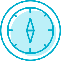 Icon image of a compass
